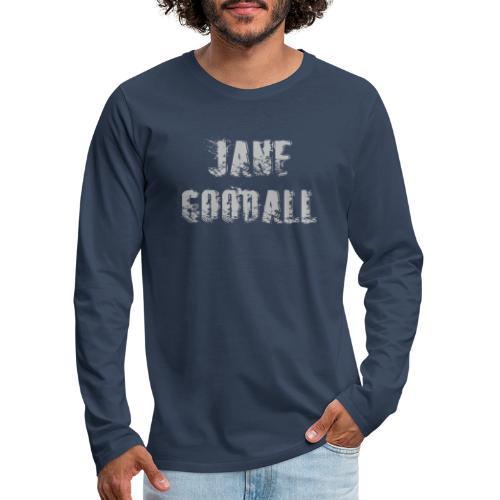 Jane Goodall design - Mannen Premium shirt met lange mouwen