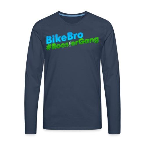 Bikebro #BoosterGang - Herre premium T-shirt med lange ærmer