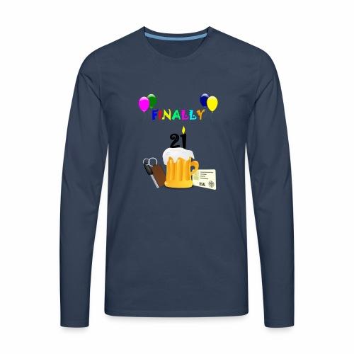 Finally 21 (2) - Men's Premium Longsleeve Shirt