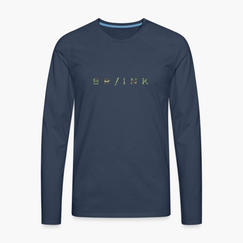 BR/INK Camo Logo - Men's Premium Longsleeve Shirt