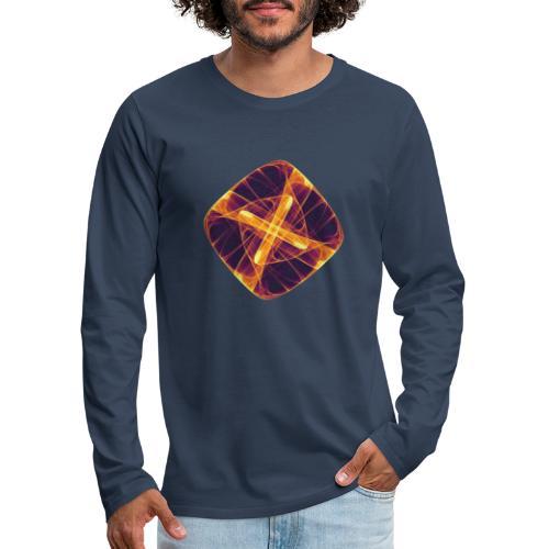 Chakra Mandala Mantra OM Chaos Star Circle 12255i - Men's Premium Longsleeve Shirt