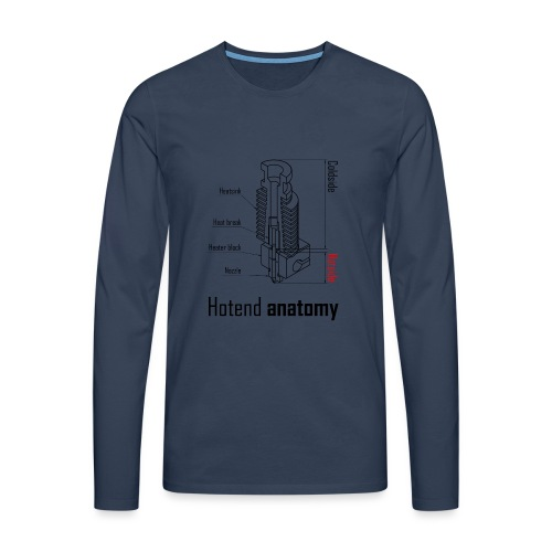Hotend anatomy - Men's Premium Longsleeve Shirt