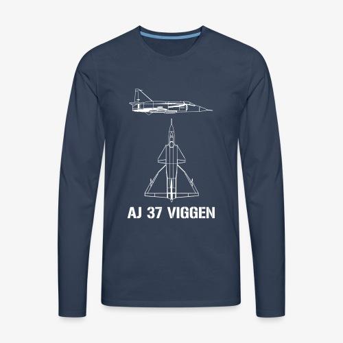 AJ 37 VIGGEN - Långärmad premium-T-shirt herr