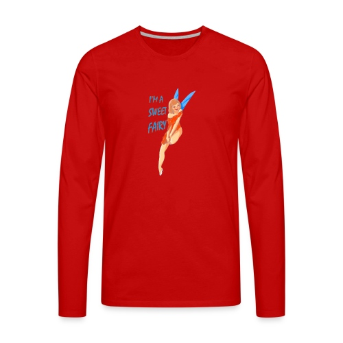 Sweet Fairy - Maglietta Premium a manica lunga da uomo