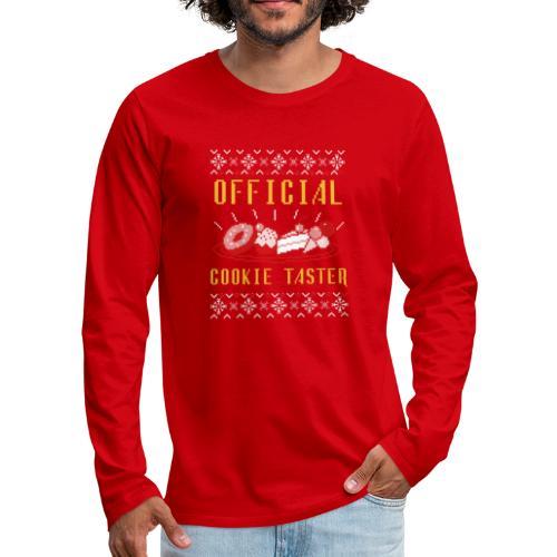Morsom julegenser - Official cookie taster - Premium langermet T-skjorte for menn