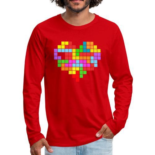 Heart T - Camiseta de manga larga premium hombre