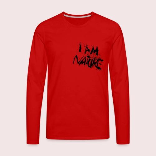 I AM NATURE (backprint) - Männer Premium Langarmshirt