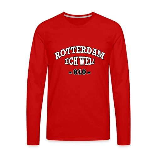 Rotterdam ech wel 010 - Mannen Premium shirt met lange mouwen