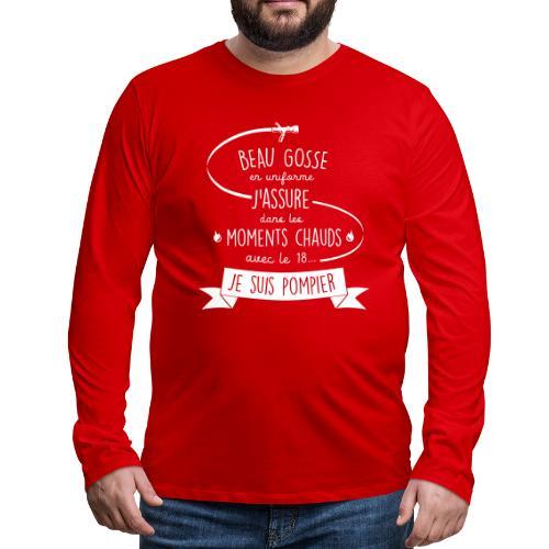 beau gosse pompier - T-shirt manches longues Premium Homme