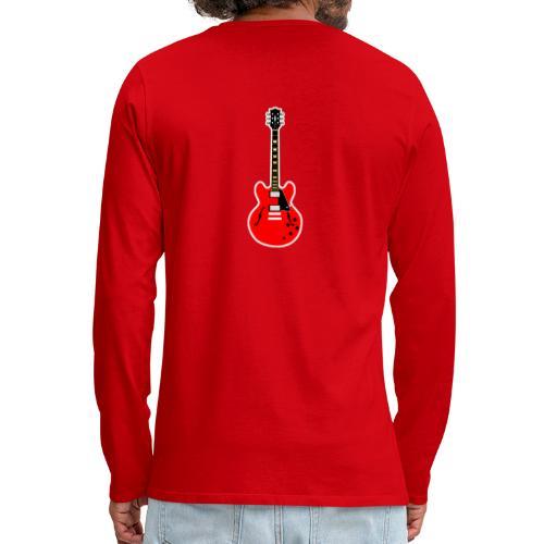 Guitare dos / Vully Blues classique poitrine - Männer Premium Langarmshirt