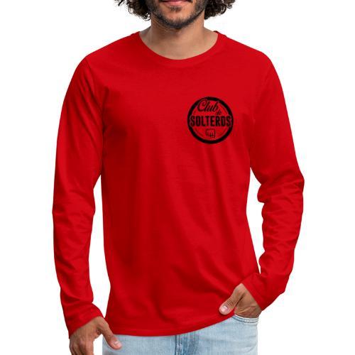 Club de Solteros (logo negro) - Camiseta de manga larga premium hombre
