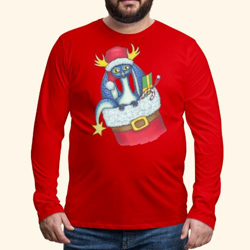 Juldrake - Långärmad premium-T-shirt herr