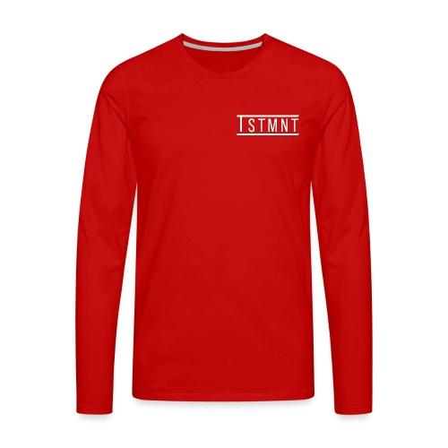 TSTMNT Logo (White) - Men's Premium Longsleeve Shirt