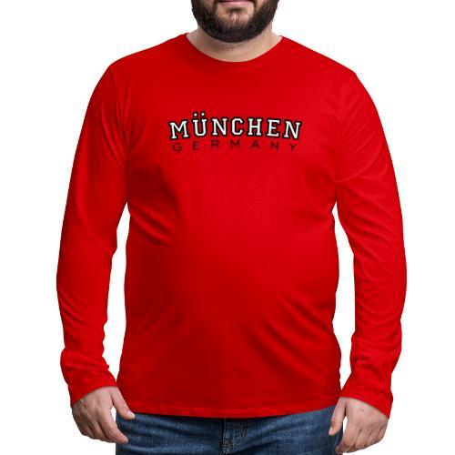 München Germany (Schwarz/Weiß) Deutschland - Männer Premium Langarmshirt