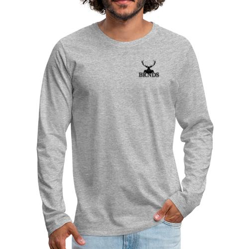 BRNDS - Maglietta Premium a manica lunga da uomo