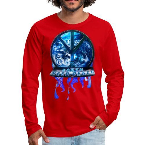Earth need peace, space edition. - Men's Premium Longsleeve Shirt