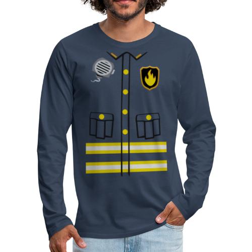 Firefighter Costume - Men's Premium Longsleeve Shirt