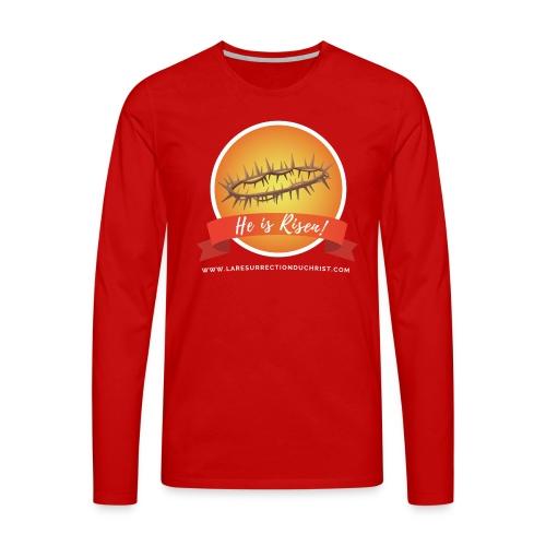 He is Risen ! (Il est ressuscité) - T-shirt manches longues Premium Homme