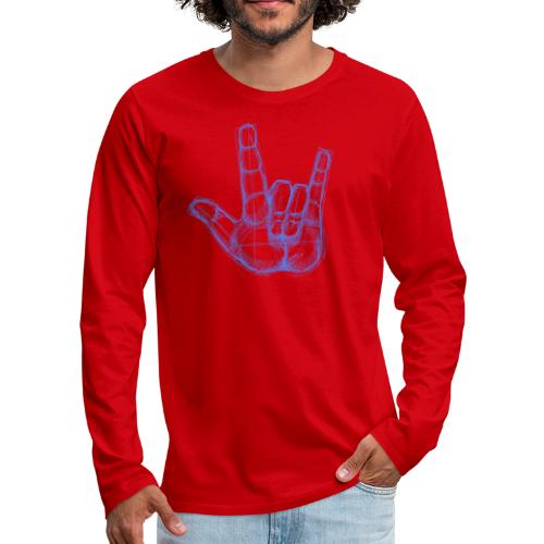 Sketchhand ILY - Männer Premium Langarmshirt