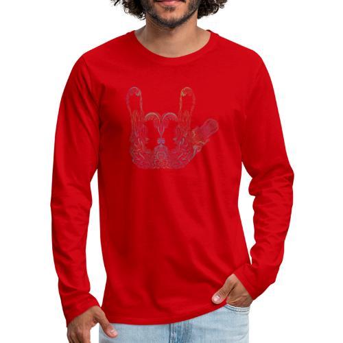 ILY Handzeichen Mandala - Männer Premium Langarmshirt