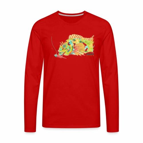 'Mr Eyebrow' - Tompot Blenny - Light Rock Fishing - Men's Premium Longsleeve Shirt