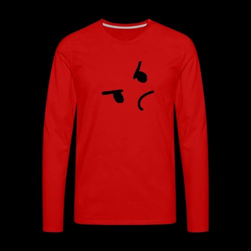 Angery face - Mannen Premium shirt met lange mouwen
