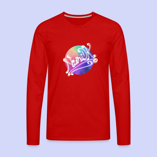 pastel rainbow, NuniDK Collection - Female top - Herre premium T-shirt med lange ærmer