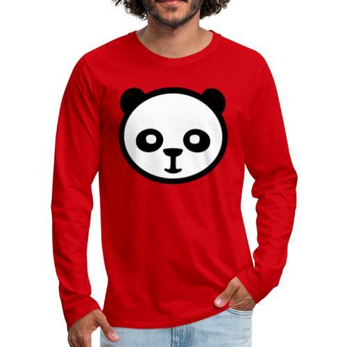 Panda, panda géant, panda géant, ours en bambou - T-shirt manches longues Premium Homme