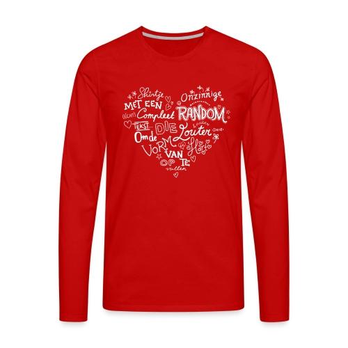 Hart - Mannen Premium shirt met lange mouwen