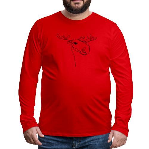 Moose - Männer Premium Langarmshirt