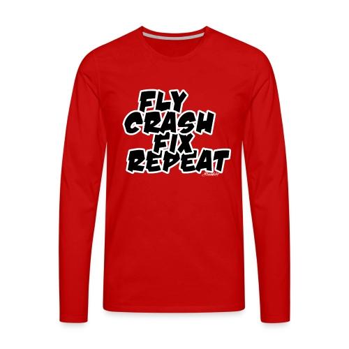 FlyCrashFixRepeat signed - Men's Premium Longsleeve Shirt