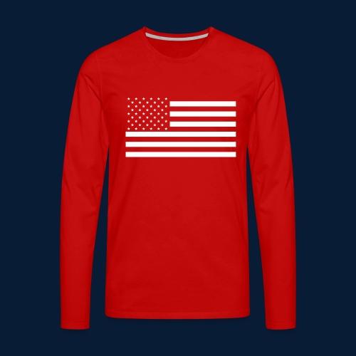 Stars and Stripes White - Männer Premium Langarmshirt