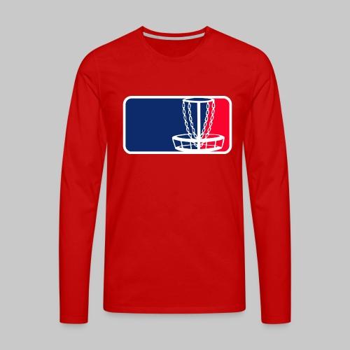 Disc golf - Miesten premium pitkähihainen t-paita
