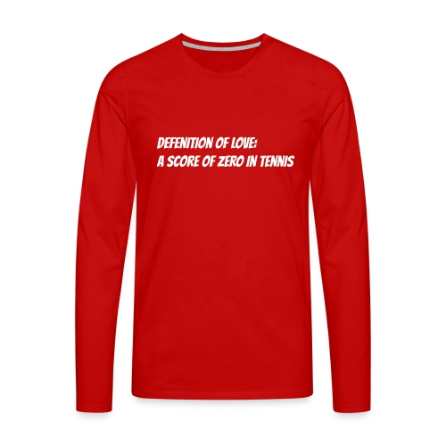 Tennis Love sweater men - Mannen Premium shirt met lange mouwen