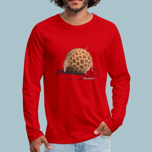 Rollin' Wild - Giraffe drinking - Men's Premium Longsleeve Shirt