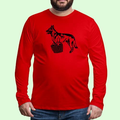 Berger Belge Malinois, la garde d'objet - T-shirt manches longues Premium Homme