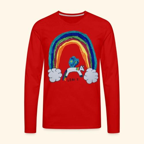 LeniT For Unicorns Only - Miesten premium pitkähihainen t-paita