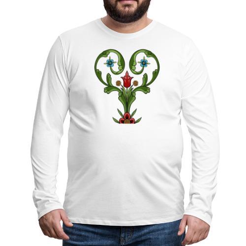 ALLMOGEHJÄRTA - Långärmad premium-T-shirt herr