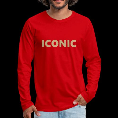 ICONIC [Cyber Glam Collection] - Men's Premium Longsleeve Shirt
