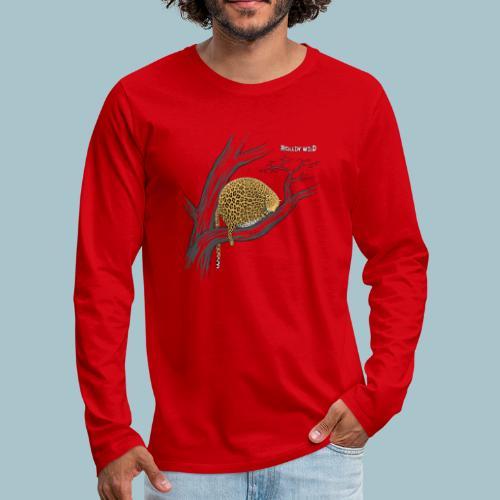 Rollin' Wild - Leopard on tree - Men's Premium Longsleeve Shirt