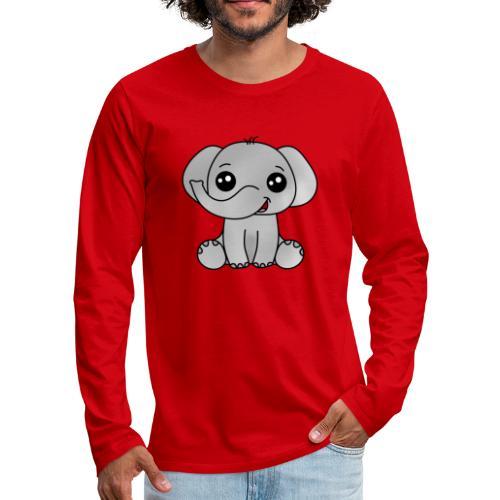 Elephant - Camiseta de manga larga premium hombre
