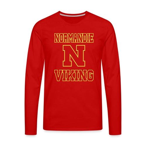 Normandie Viking Def jaune - T-shirt manches longues Premium Homme