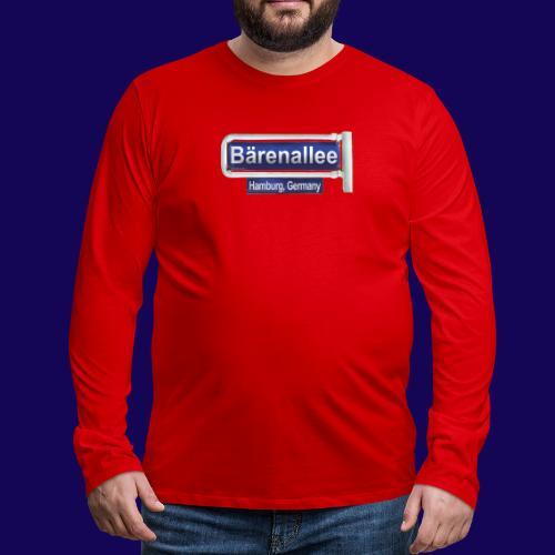 Bärenallee, altes Straßenschild Hamburg - Männer Premium Langarmshirt