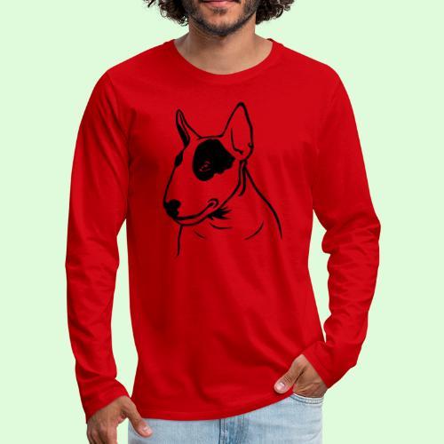 Tête de Bull Terrier - T-shirt manches longues Premium Homme