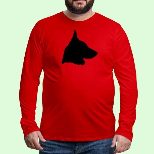 Berger Belge Malinois, l'ombre en tête - T-shirt manches longues Premium Homme