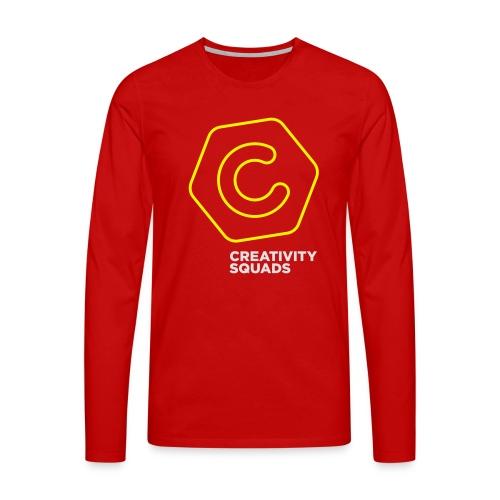 CS Hoodie Pink Unisex - Miesten premium pitkähihainen t-paita