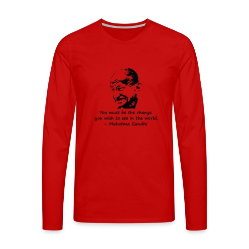Be the Change - Men's Premium Longsleeve Shirt