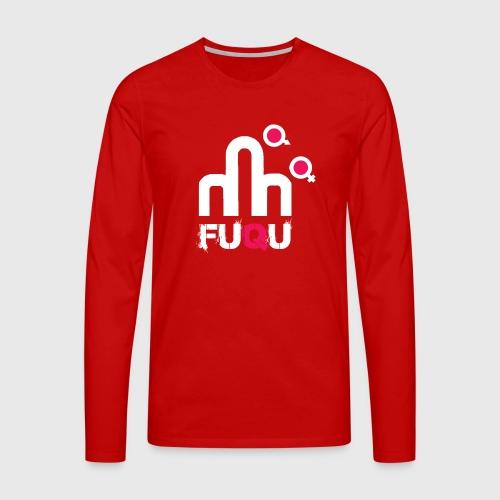 T-shirt FUQU logo colore bianco - Maglietta Premium a manica lunga da uomo