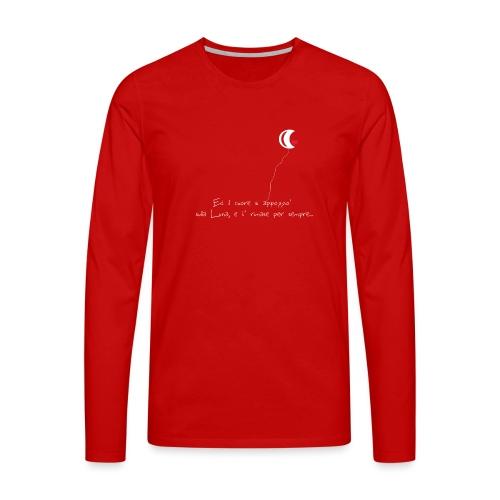 CUORE-E-LUNA - Maglietta Premium a manica lunga da uomo