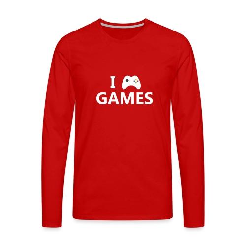 I Love Games 2 - Camiseta de manga larga premium hombre
